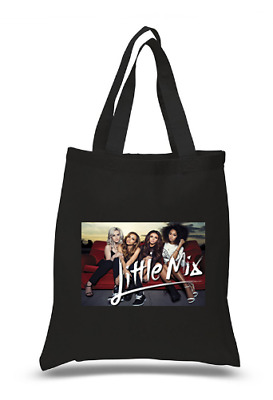 £6.49 • Buy Shopper Tote Bag Cotton Black Cool Icon Stars Little Mix Ideal Gift Present