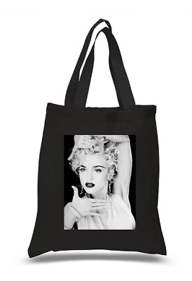 £6.49 • Buy Shopper Tote Bag Cotton Black Cool Icon Stars Beatles Madonna Ideal Gift Present