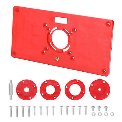 $14.65 • Buy Router Table Insert Plate With 4 Rings Screws For Woodworking Benches ABS M6W7