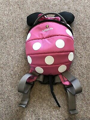 Littlelife Toddler Backpack With Rein - Disney - Minnie Mouse • 5.20£