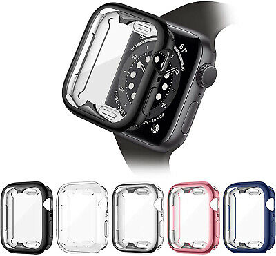 $ CDN12.54 • Buy 5 Pack Screen Protector Case Cover For Apple Watch 38 42 40 44mm Series 6 5 4 3