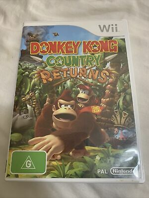 AU12 • Buy Donkey Kong Country Returns (Wii, 2010) Complete With Manual Feee Post