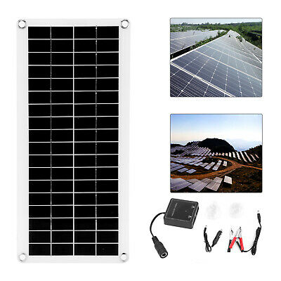 £19.99 • Buy Dual USB Flexible Solar Panel 12V 20W Battery Charger Kit Boat Camp + Controller