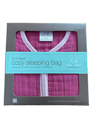 £16 • Buy Aden And Anais Baby/toddler Sleeping Bag, New, Boxed, Cotton Muslin, 1.7 Tog