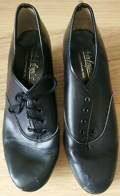 Dance Freed Black Leather Lace Up Tap Shoes Size 3 • 1.50£