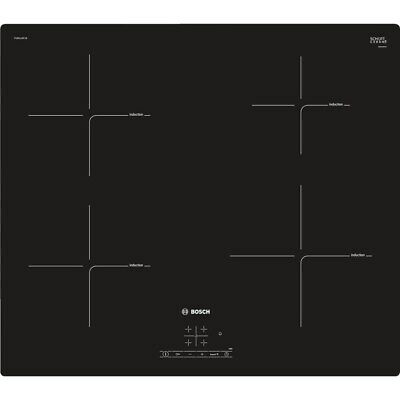 £329 • Buy Bosch PUE611BF1B Serie 4 59cm Frameless 4 Zone Induction Hob With Touch Controls