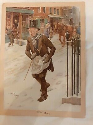 OLD PRINT ( 71/2  X 10  ) OF FAMOUS PAINTING TROTTY VECK BY FRANK REYNOLDS (1912 • 5£