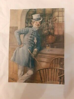 OLD PRINT ( 71/2  X 10  ) OF FAMOUS PAINTING MONTAGUE TIGG BY FRANK REYNOLDS • 5£