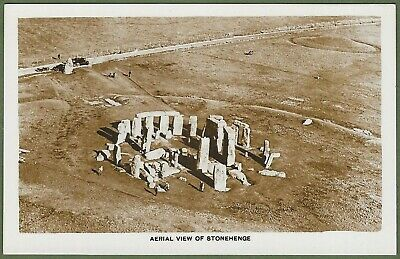 Aerial Photographic Postcard Of Stonehenge C1920's. Super View In Top Condition. • 3.50£