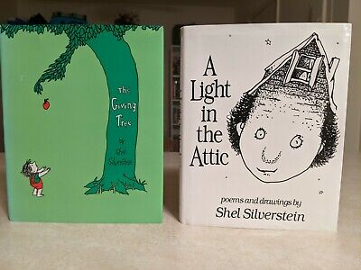 Shel Silverstein Books - The Giving Tree And A Light In The Attic - Hardcovers • 4.01£