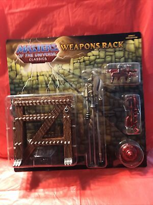 $27 • Buy Mattel Masters Of The Universe Classics 2010 Weapons Rack T5814 New/Sealed