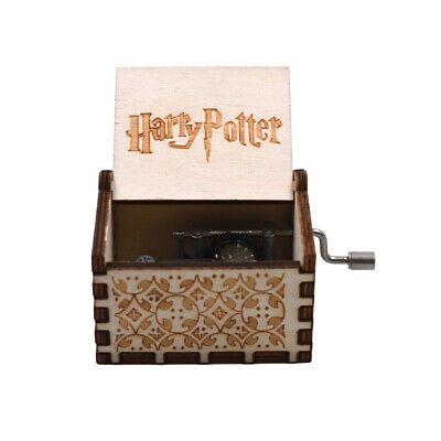 $ CDN8.20 • Buy Harry Potter Hand Crank Music Box White Color Wooden Music Box Holiday Gifts
