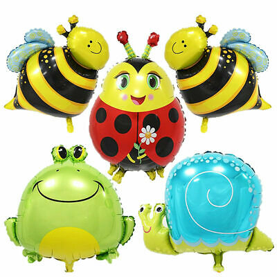 £1.35 • Buy Insect Bee Frog Snail Helium Foil Balloons Kids Birthday Party Decorations New