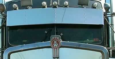 $ CDN514.23 • Buy Kenworth T800 W900b Day Cab Stainless Steel 13 Inch Drop Visor K-2215