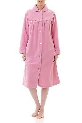 AU74.95 • Buy Ladies Givoni Pink Short Button Dressing Gown Bath Robe (73)