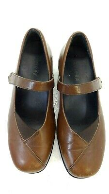 AU32.12 • Buy Ziera Womens Brown Leather Mary Janes Flats Size 9 / 39.5