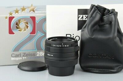 $ CDN748.63 • Buy Very Good!! CONTAX Carl Zeiss Biogon 28mm F/2.8 T* Black For G1 / G2 W/ Box
