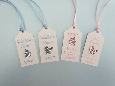 £3.50 • Buy 10 Personalised Favour Tags Baby Shower/Christening/Baptism
