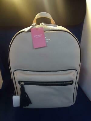 $ CDN150.32 • Buy Kate Spade Chester Street Aveline Large Beige Pebbled Leather Backpack WKRU5122