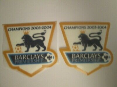 £5.99 • Buy Pair Of 2003-2004 Champions Premier League Patch Player Size  Iron On Heat Press