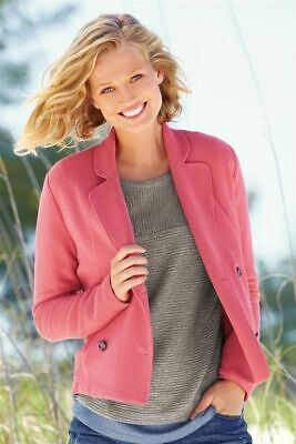 £50 NEW Next Outwear Textured Jersey Double Breasted Blazer Pink Jacket Size 22 • 1.70£