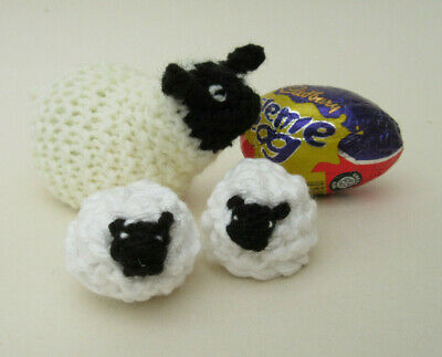 £2.80 • Buy KNITTING PATTERN Easter Sheep & Lambs Creme Egg Chocolate Cover