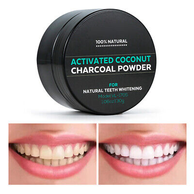 AU7.20 • Buy 30g Organic Activated Charcoal Teeth Whitening Powder Natural Coconut Whitener