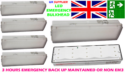 £13.95 • Buy Trade Led Emergency Light Fitting Bulkhead 3 Wat Ip65 Maintained Non Maintained