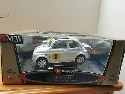 Burago Fiat 500 Abarth 1965 Gold Collection 1/16 Scale  • 40£