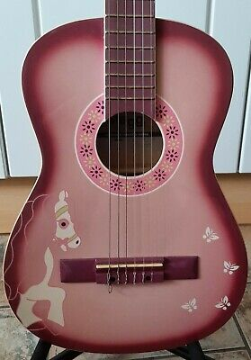 £36 • Buy Stagg,  Lily Cloud  Childrens Acoustic Guitar.  Pony Design. Stand Included.