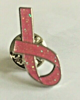 £2.20 • Buy Breast Cancer Care Charity Pin Badge, Pink Glittered Ribbon