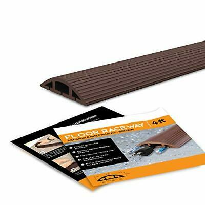 Simple Cord Brown Floor Cord Cover - 4 Ft Duct Cord Protector Covers Cables C... • 20.14£