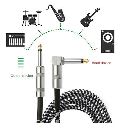 $ CDN14.28 • Buy 10ft NOISELESS Electric Guitar Bass Cable Pedal AMP Cord 1/4  Durable