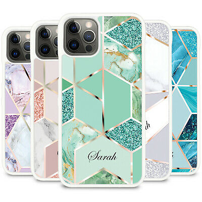 £5.90 • Buy For IPhone 13 12 11 8 7 XR X XS MAX PRO Personalised Marble Phone Case Cover Z02