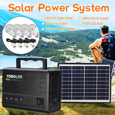 AU61.99 • Buy Caravan Solar Power Panel Generator LED Light Bulb Camping Charging System Kit