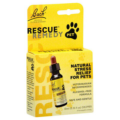 BACH FLOWER - Rescue Remedy Natural Stress Relief For Pets - 0.35 Oz. (10 Ml) • 15.36£