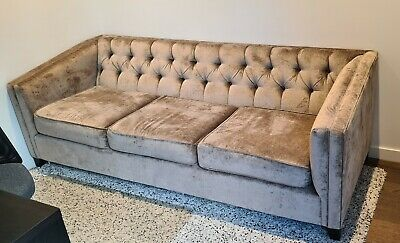 AU380 • Buy Sofa 3-Seater Fabric - Brown Color