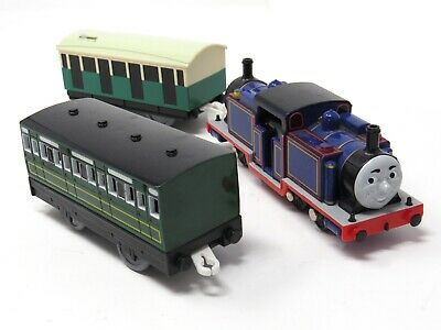Tomy Trackmaster Thomas The Tank Engine Battery Train Mighty Mac And Coaches • 21.99£