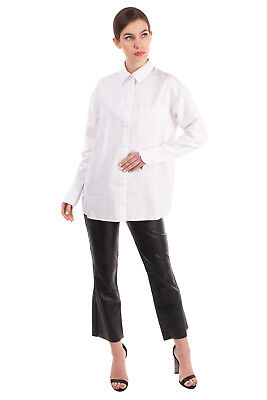 AU53.57 • Buy RRP €475 ALEXANDER WANG Oversized Shirt Size 4 / S White Textured Chest Pocket