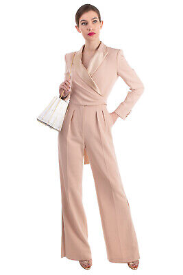 AU43.20 • Buy RRP €1605 MAX MARA Jumpsuit Size 38 / S Silk Inserts Wrap Front Made In Italy