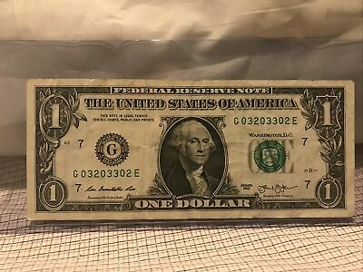 $25 • Buy Fancy Serial Number 1 Dollar Bill(0-320-3-302 )2013