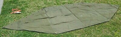 $90 • Buy Military Shelter Half 1/2 Pup Tent Vietnam Style Army With Poles & Stakes 1953