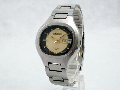 $ CDN161.09 • Buy Vintage Seiko 5 Actus Gold/Gray Dial Ref.7019-5010 Original Stainless Bress.