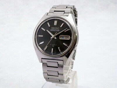 $ CDN160.92 • Buy Vintage 1973 Seiko 5 Actus Dark Gray Dial Ref.7019-8010 Original Stainless Bress