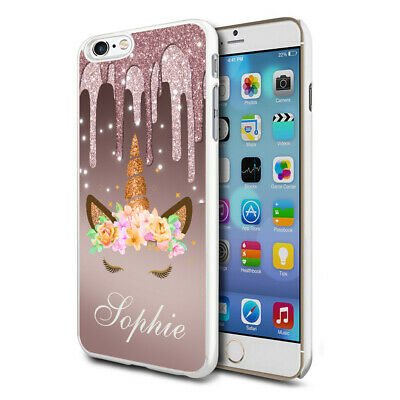 AU8.82 • Buy Personalised Dripping Unicorn Phone Case Cover For Apple Samsung Initial Name