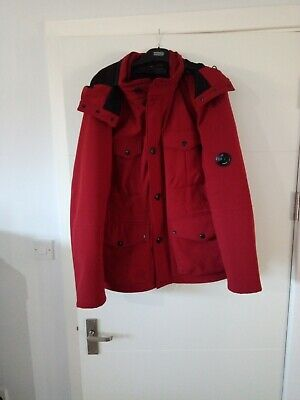 Cp Company Jacket Red With Goggles In Hood, Excellent Condition. • 160£