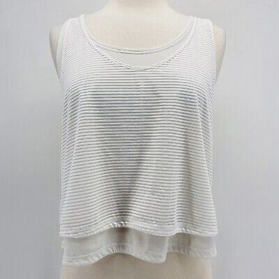 $ CDN35.78 • Buy Lululemon White Layered Airy Lean In Tank Top Size 12
