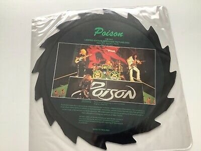 "POISON 12"" Picture Disc Shaped Interview Disc Saw Cut • 1.20£"