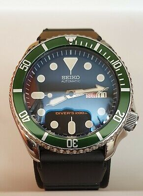 $ CDN250.64 • Buy Seiko SKX007 7s26-0020 With Green Insert And Double Dome Crystal Mod