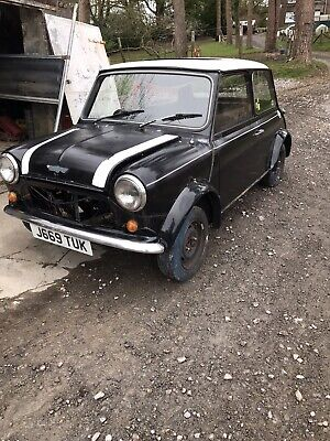1991 Classic Mini Cooper Rolling Shell Spares Or Repair Project • 800£